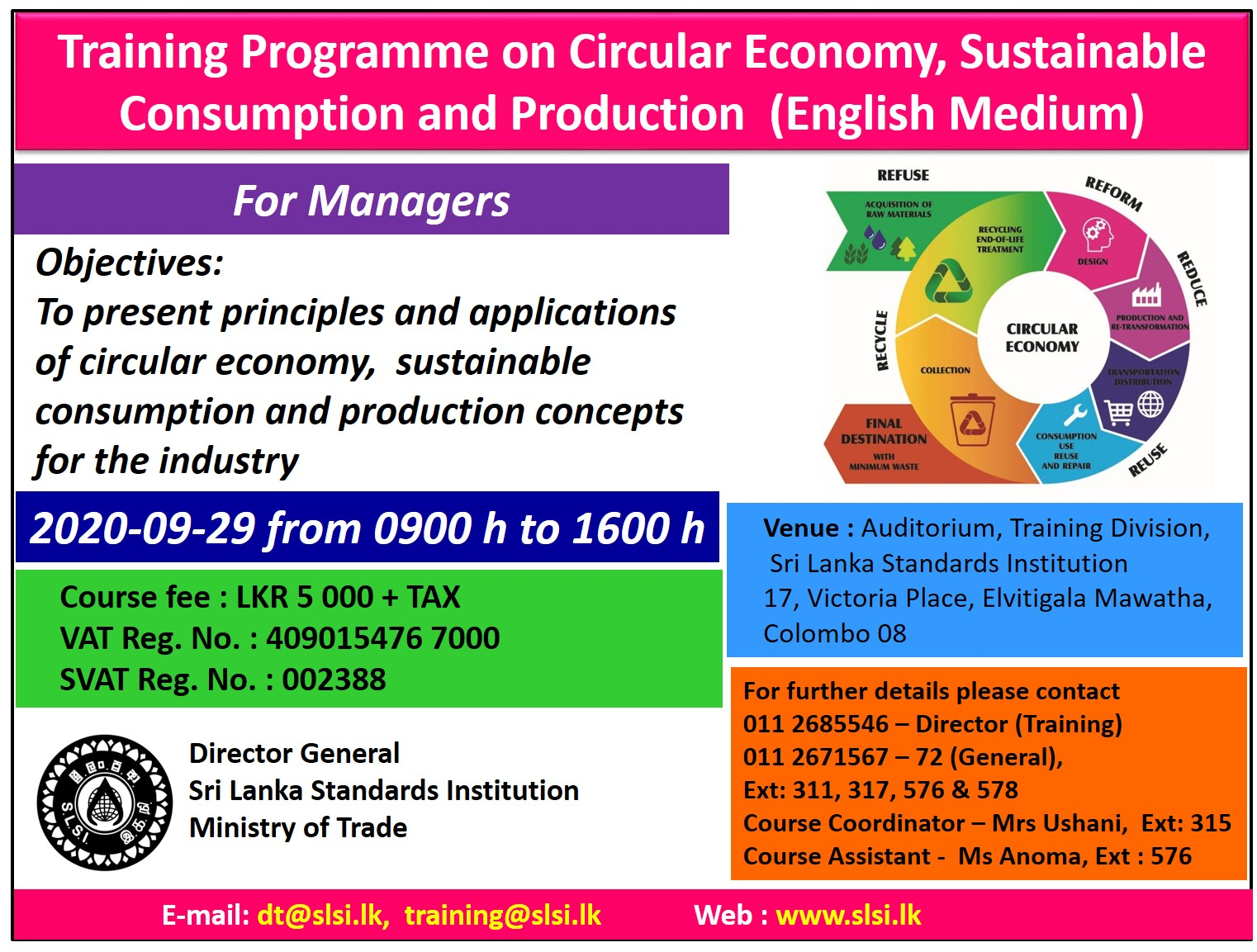 Circular Economy Sustainable Consumption and Production2020 09 29